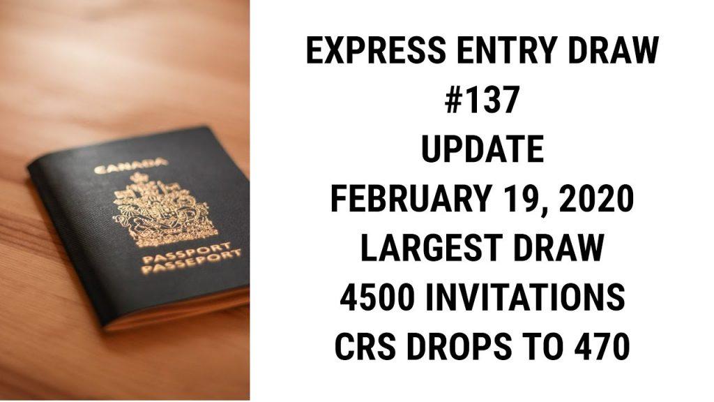 Express Entry draw 137, Express Entry draw 2020, Express Entry draw 2020, Express Entry latest draw, Express Entry draw