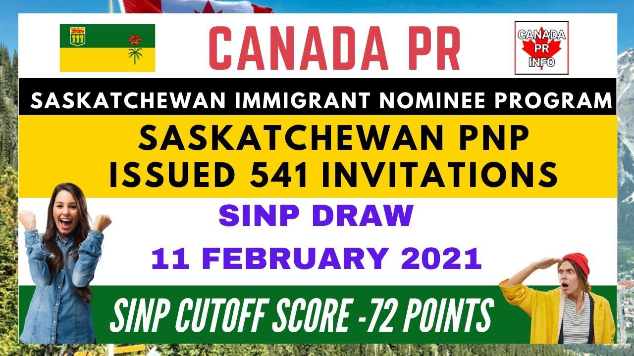 SINP EOI DRAW RESULTS 20201