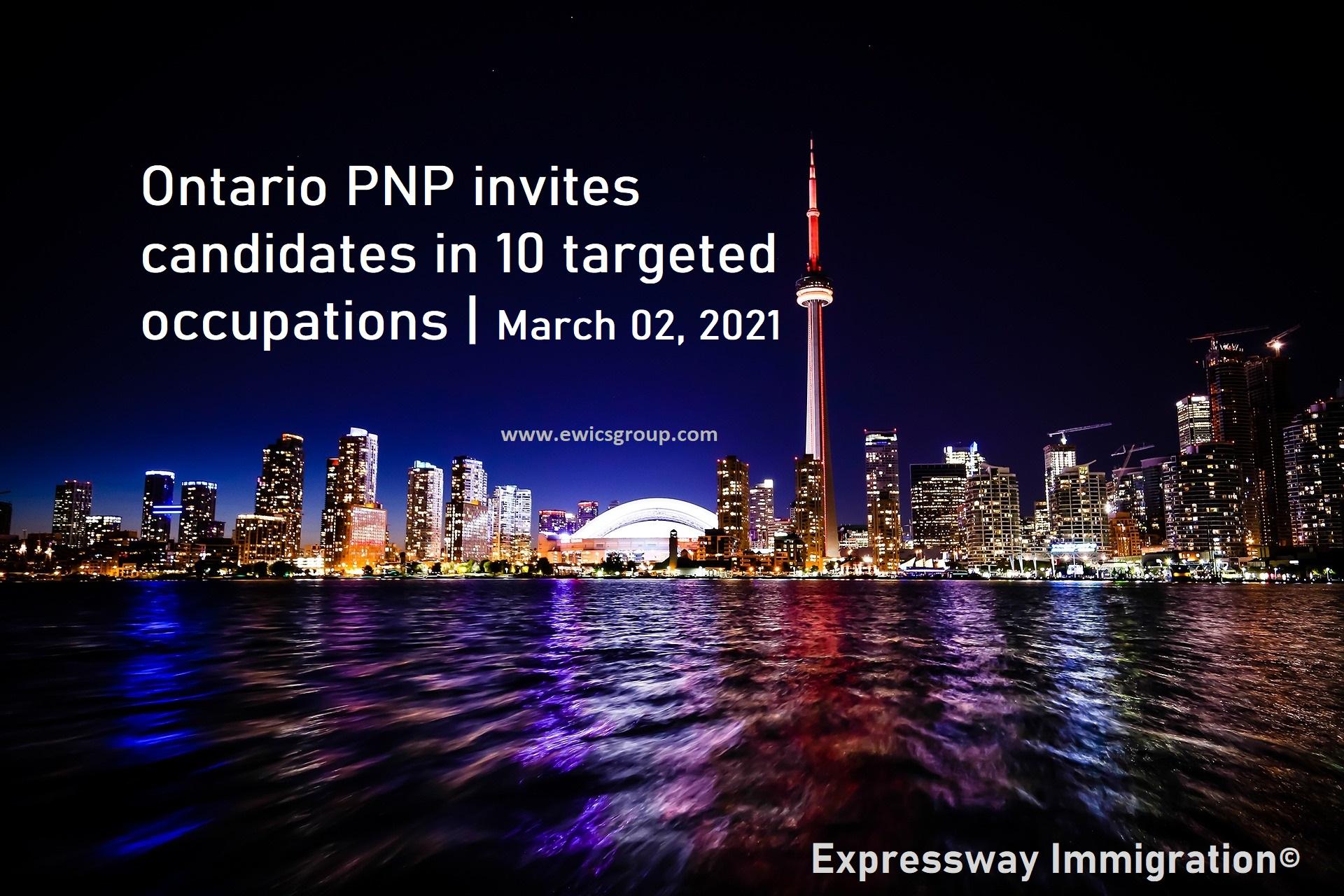 Ontario PNP latest draw updates